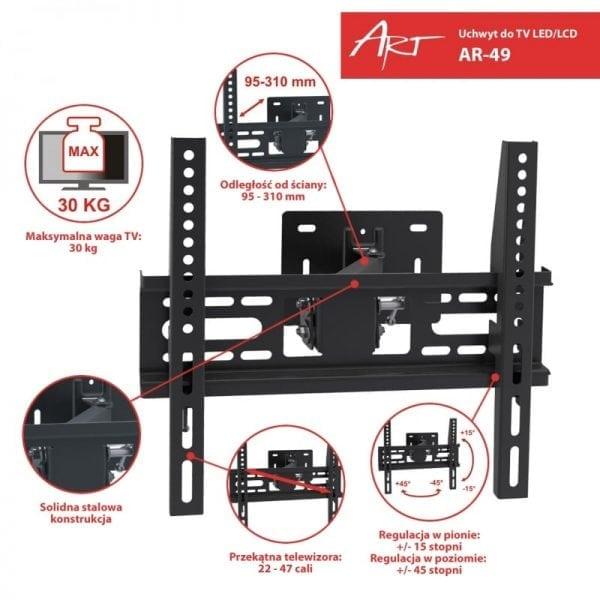 UCHWYT DO TV AR-49 22-47 PION-POZIOM
