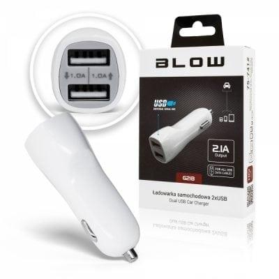 Ładowarka samochodowa BLOW 2x USB G21B 2,1A 12-24V