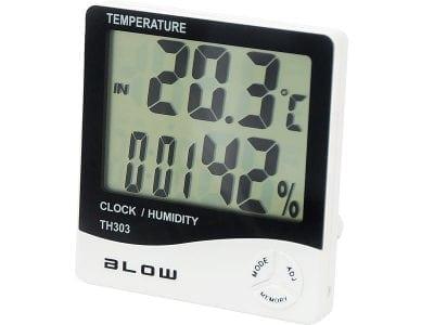 Higrometr BLOW TH303 Zegarek Budzik Temp. wew