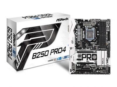ASRock B250 Pro4 s1151 B250 4DDR4 USB3.0 2xM.2 ATX