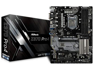 ASRock Z370 Pro4 s1151 4DDR4 USB3 DVI HDMI M.2 ATX