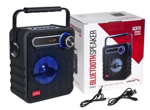 GŁOŚNIK PRZENOŚNY BLUETOOTH BOMBOX RADIO FM SD USB