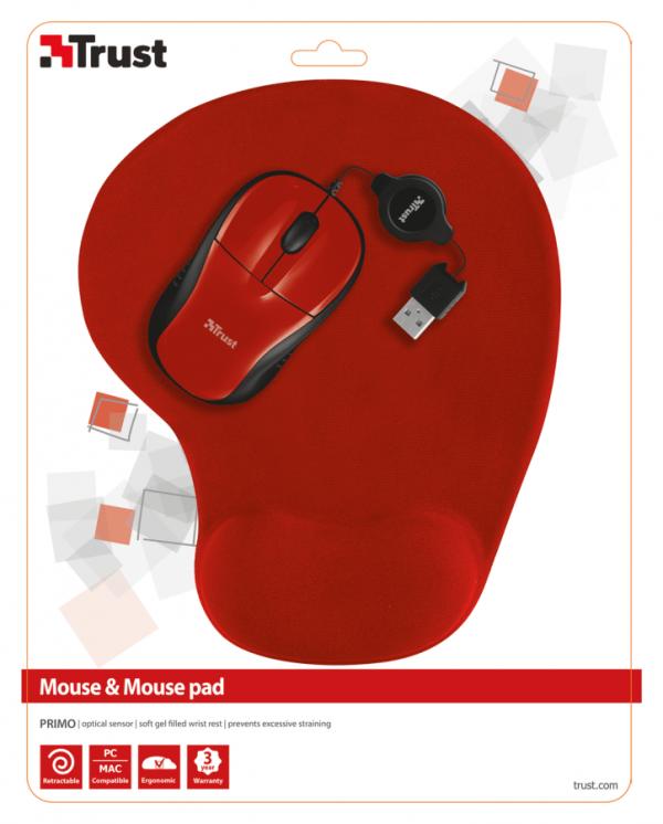 Mysz z padem Trust Primo 1000dpi optyczna