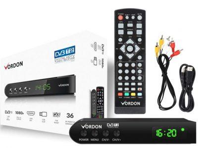 Tuner DVB-T/T2 Vordon TTN-02 1080p PVR USB HDMI