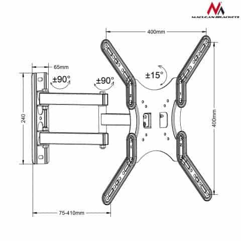 "Uchwyt do TV/monitora Maclean MC-759 13-55"" 30kg vesa 400x400"