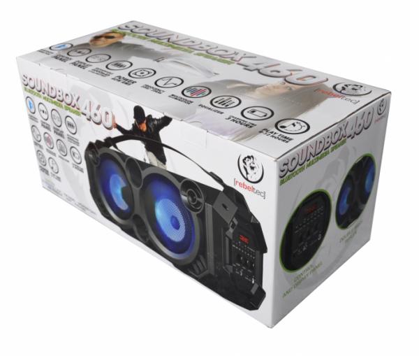 Głośnik bluetooth SoundBOX 460 40W RMS FM microSD