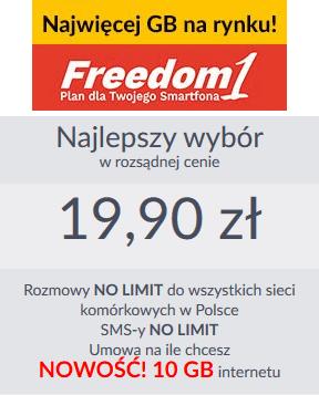 Abonament Freedom 1 w Premium Mobile jest idealną ofertą