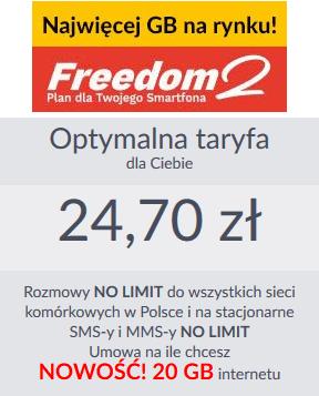 Abonament Freedom 2 w Premium Mobile jest idealną ofertą
