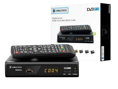 TUNER DVBT2 CABLETECH URZ0336 H.265 USB LAN